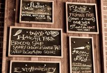 menu boards / by Tracee Cole