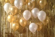 gold and white party
