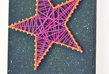 String Nail Art