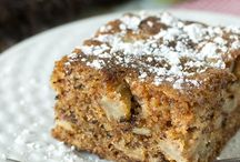 Apple cake and walnuts