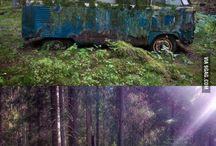 VW T - camper funny