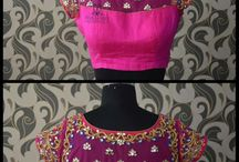 neted saree blouse style
