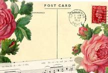 Vintage ~ Postkaart  Rozen