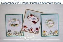 Stampin' Up! My Paper Pumpkin December 2015 One Great Year / Sign up for My Paper Pumpkin for only $19.95 a month on my website http://BeautyScraps.stampinup.net and visit my blog http://myBeautyScraps.com for alternate ideas and inspiration!