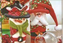 Cubre botellas navideños.....
