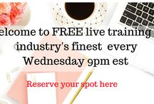 Free Training / Free training on a variety of topics, facebook, mindset, instagram, lead generation. funnels, autoresponders, Pinterest