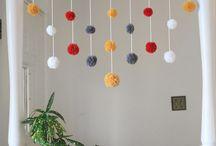 Guirnaldas / Adornos para fiestas, decorar rincones....