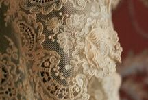 Antique lace and ribbons