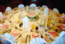 Our Wedding / details including table settings, jewellery, hairstyles, dresses etc
