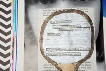 Found Poetry art journal pages