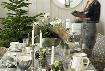 Table scape Green and Silver
