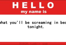 Hello my name is..