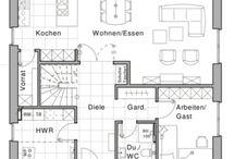 Raumaufteilungen für Neubau