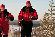 Skiing and Snowshoes / Discover the forest of Lapland in Finland on snowshoes or skiing: a natural way to get in the wilderness with Lapland Safaris