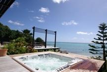 Villa Gaidic en front de mer en Guadeloupe 12 personnes / Villa en Guadeloupe de prestige pour vacances de rêves, les pieds dans l'eau