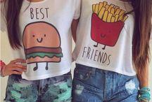 Camisetas para 2 personas