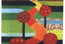 Postales, puntos de libro y demás grafismos / Diseños sobre papel inspirados en nuestros estampados textiles.