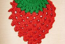 Morango em crochet