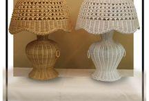 lustry-lampy / pletení z papíru