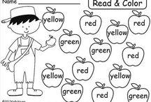 Kindergarten color words