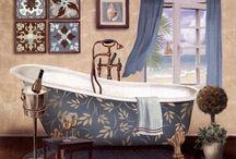 Salles de bains vintage et accessoires