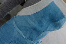 ブルー系のリネン(麻)エプロンを集めました / リネン(麻) エプロン ブルー系 linen apron blue