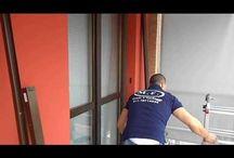 Installazione zanzariera plissè M.F. Tende e tendaggi Torino www.mftendedasoletorino.it