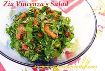 Zia Vincenza's Salad of Roasted Peppers, Parlsey & Olives / Kitchen Wisdom Gluten Free Recipe http://kitchenwisdomglutenfree.com/2015/06/28/zia-vincenzas-salad-forget-what-you-know-about-wheatc-2015/