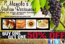 Special Events / Great specials offered by Manolo's