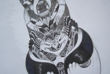 ink I black & white / Illustration swarz/weiss tusche Ink