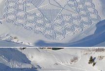 mensajes en la nieve