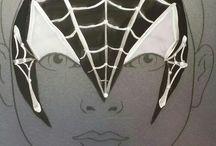 Spiderman designs painted by Schminkkoppies