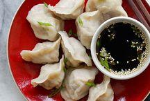 Asian dumplings, rolls & other pastry