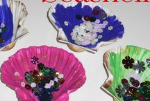 Busy Bees Scallop Shell crafts