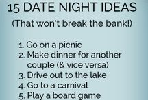 Date Night Ideas for Married Couples / Date nights in marriage are crucial! Here are ideas and inspiration for romantic, fun and spontaneous date nights for you and your spouse!