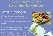 HealthyFlax Recipes Sweepstake / A collection of Flax recipes for the Healthy Flax Recipes sweepstake