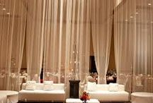White Contemporary Event ideas / 17m x 34m x 7m height venue - ideas to show height of white draping and maybe some dramatic ideas for the ceiling to give the wow focal point.
