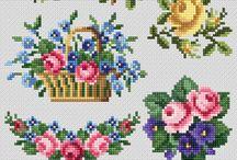 Flowers / Cross stitch