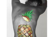 Pineapple bodypaint / Pineapple bodypaint