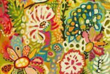boho art flowers