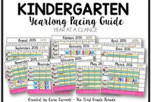 Kindergarten: Pacing Guides / by Amy Brooks