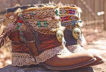 vintage boho cowboy shoes