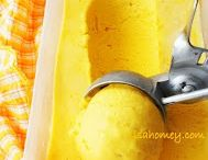 Treats / Mango ice cream homemade