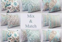 Blue/brown pillows