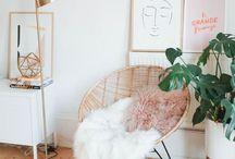 White aesthetic/earthy decor