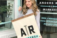 AR Workshop Boutique DIY Studios / AR Workshop is a boutique DIY Workshop that teaches hands-on classes to create custom and charming home decor like wood signs, canvas pillows and more. We also have a specialty curated retail section of gift and decor items.