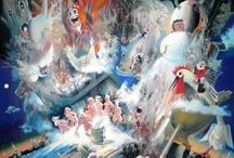 Gouache / Artworks of Oleg Tsvetkov