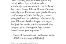 Except from a book I will never write