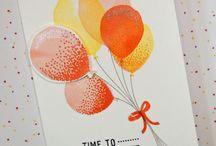 stampin up Balloon