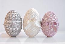 Lavorazione uovo all'uncinetto